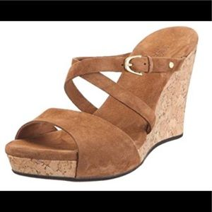 Ugg Jullita leather & cork wedge sandals